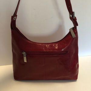 HOBO Brand Red Leather Handbag